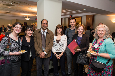 photo of awardee Zineta Borogovac with Marlene Mack and guests