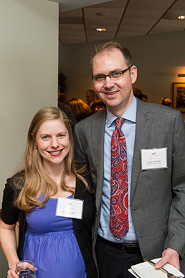 photo of awardee Corey Schenck with his wife Erin Schenck